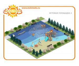 T0011 - Игровая площадка 15х15 м
