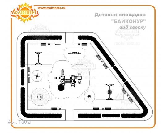 "T0021 - Тематическая площадка ""Байконур"" 336 м2"