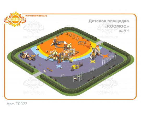 """T0022 - Тематическая площадка """"Космос"""" 1110 м2"""