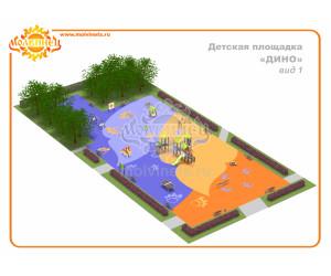"""T0028 - Тематическая площадка """"Дино"""" 900 м2"""