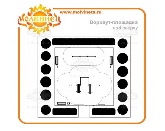 T0031 - Спортивная площадка Workout 99 м2