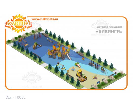 "T0035 - Тематическая площадка ""Викинги"" 420 м2"