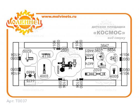 """T0037 - Тематическая площадка """"Космос"""" 420 м2"""