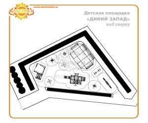 """T0039 - Тематическая площадка """"Дикий Запад"""" 143 м2"""