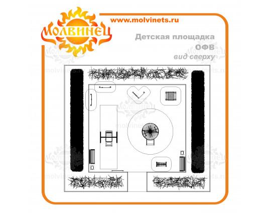 T0043 - Игровая площадка 90 м2