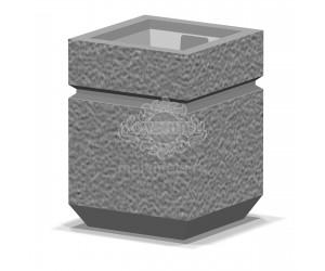 001002 - Уличная урна бетонная со вставкой