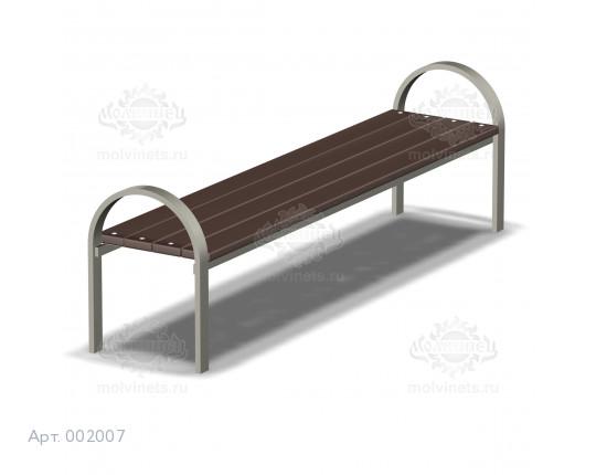 002007 - Скамья металлическая без спинки
