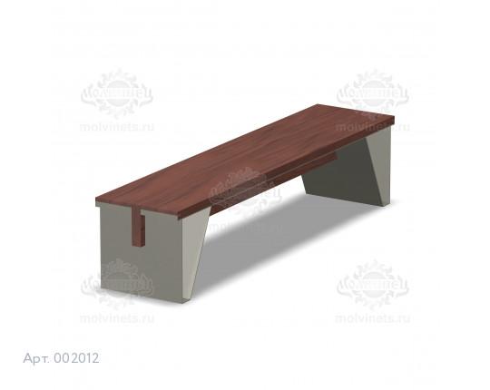 002012 - Скамья металлическая без спинки