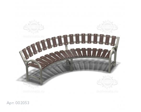002053 - Скамья металлическая со спинкой