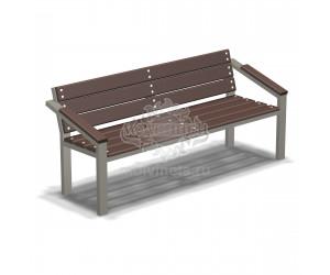 002063 - Скамья металлическая со спинкой
