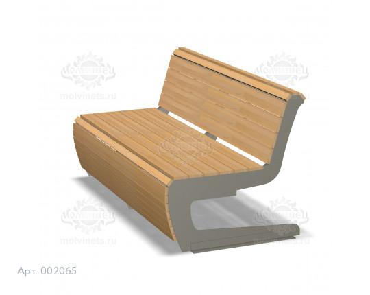 002065 - Скамья металлическая со спинкой