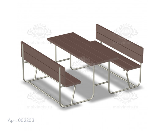 002203 - Стол со скамьями