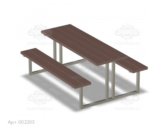 002205 - Стол со скамьями