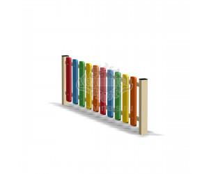 002410 - Ограждение фанерное с металлическими столбами (секция + 1 столб)