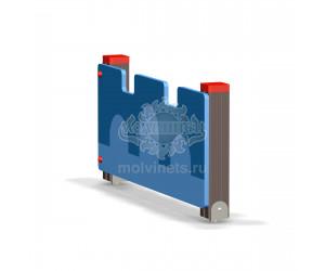 002412 - Ограждение фанерное с деревянными столбами (секция + 1 столб)