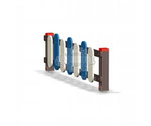 002413 - Ограждение фанерное с деревянными столбами (секция + 1 столб)