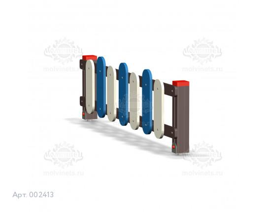 002413 - Ограждение игровой площадки (секция + 1 столб)