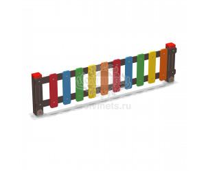002414 - Ограждение фанерное с деревянными столбами (секция + 1 столб)