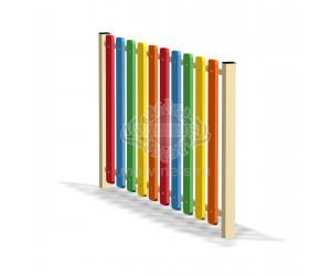 002420 - Ограждение фанерное с металлическими столбами (секция + 1 столб)