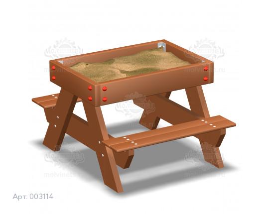 """003114 - Песочница """"Стол со скамьями"""""""