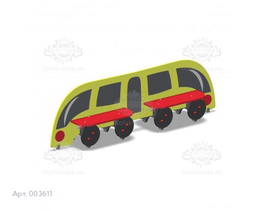 """003611 - Детская скамья """"Поезд"""""""