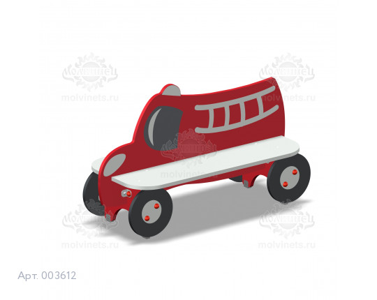 """003612 - Детская скамья """"Пожарные"""""""