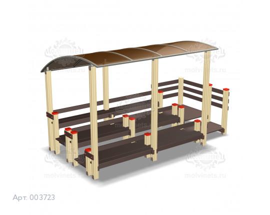 003723 - Трибуна спортивная детская трехуровневая