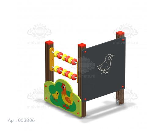 """003806 - Развивающий игровой элемент """"Доска для рисования со счетами"""" с накладкой"""