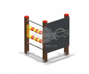 """003808 - Развивающий игровой элемент """"Доска для рисования со счетами"""" без накладки"""