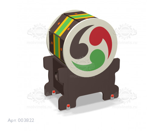 """003822 - Развивающий музыкальный игровой элемент """"Тайко"""""""