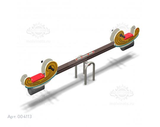 """004113 - Качели балансирные деревянные """"Спагетти"""""""