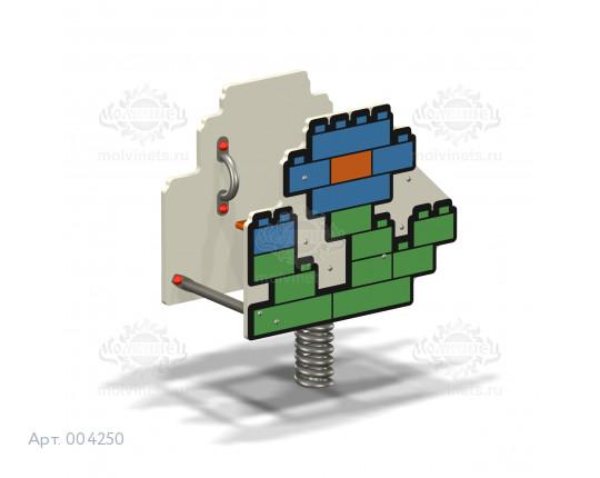 """004250 - Качалка на пружине """"Конструктор Цветочек"""""""