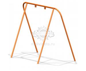 004404 - Каркас качелей на металлических стойках  (под один подвес) (не разборный)