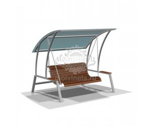 "004461 - Качели-диван с навесом ""Отдых"" на цепном подвесе"