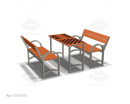 006330 - Игровой стол со скамьями со спинками
