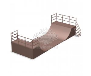 "006900 - Фигура для скейт-парка ""Халф-пайп"" (Half pipe)"